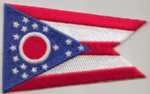 Ohio Embroidered Flag Patch, style 08.
